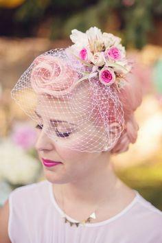 Retro Pink Hair Style Bride Aqua & Pink Engagement Ideas http://audrawrisley.com/