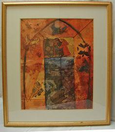 """Sower of Love - St. Francis""  22 X 27 Framed artwork by local artist, Reda Kay.  http://www.ashevillegallery-of-art.com/2011/03/reda-kay.html"