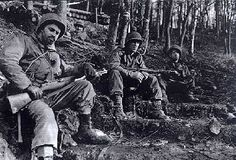 """Taking a Break"" November 18, 1944. Men of the 8th IR/4th ID resting in the forest near Schevenhütte"