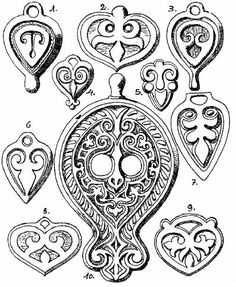 hungarian bag and clothing decoration Ancient Symbols, Ancient Art, Early Middle Ages, Pattern Pictures, Strange History, Vintage Type, Ancient Jewelry, Leather Design, Colouring Pages