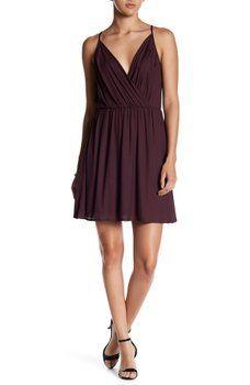 Lush - Cami Surplice Blouson Dress