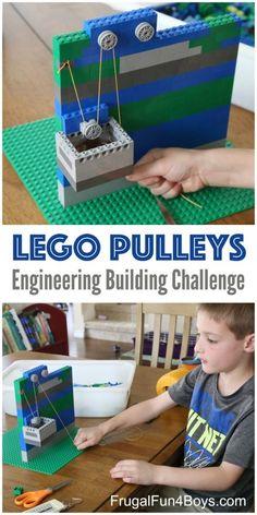 LEGO Pulleys Engineering Building Challenge