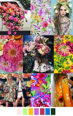 S/S 2017 colors & patterns trends: LATE BLOOMER