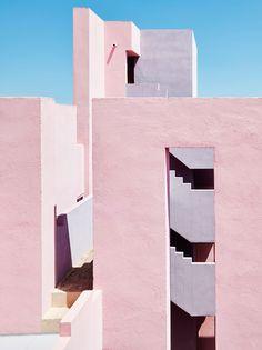 La Muralla Roja, Calpe, Spain. Built by Ricardo Bofill, 1973.
