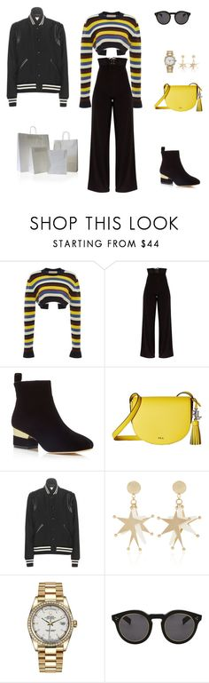 """Steal the deal: Black friday"" by sebolita ❤ liked on Polyvore featuring Marni, Isa Tapia, Lauren Ralph Lauren, Yves Saint Laurent, Rolex and Illesteva"
