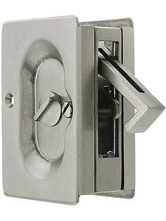 Pocket Door Locks. Premium Quality Mid-Century Pocket Door Privacy Lock Set