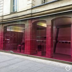 viewOnRetail in Paris, Comme des Garcons Parfum www.patternsnap/pink-its-like-red-but-not-quite/ Glass Store, Showroom Design, Detail Architecture, Interior Architecture, Retail Store Design, Retail Shop, Commercial Design, Commercial Interiors, Comme Des Garcons Parfum