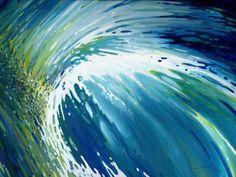 "Saatchi Art Artist: Margaret Juul; Acrylic 2014 Painting ""Vortex Wave"""