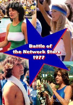 Battle of the Network Stars 1977 Its Adrienne Barbeau  Cheryl Ladd  Parker Stevenson and Kristy McNichol .