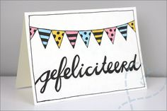 Handlettering Oefenen op wenskaarten - Nobody ELSe - Handlettering kaart schrijven gefeliciteerd - Diy Homemade Cards, Diy Cards, Birthday Fun, Birthday Cards, Boyfriend Crafts, Diy For Kids, About Me Blog, Doodles, Paper Crafts