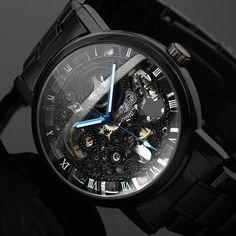 """Black Skeleton"" Steampunk Watch"