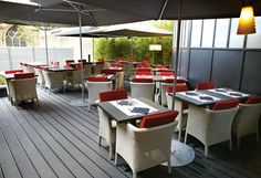 Hardwearing and low-maintenance UPM ProFi products are ideal for a wide range of outdoor applications. Outdoor Furniture Sets, Outdoor Decor, Deck, Restaurants, Hotels, Range, Home Decor, Products, Cookers