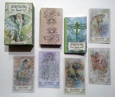 Spiritsong Tarot is a lovely tarot deck by Paulina Cassidy (creator of the Paulina Tarot and Joie de Vivre Tarot), and published by US G. Oracle Reading, Tarot Reading, Divination Cards, Tarot Cards, Oracle Tarot, Oracle Deck, I Feel Overwhelmed, The Hierophant, Card Drawing