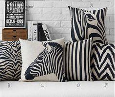 New Black And White Zebra Stripes Pattern Cusion Cover Fashion Geometric Decorative Sofa Throw Pillow Car Home Decor Pillow Case. Category: Home & Garden. Subcategory: Home Textile. Sofa Throw Pillows, Linen Pillows, Cushions On Sofa, Decorative Pillows, Geometric Cushions, Geometric Pillow, Pillow Covers, Der Leopard, Pillows