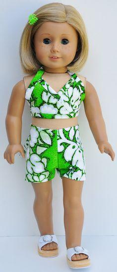 American Girl Clothes  Green Hawaiian by LoriLizGirlsandDolls, $20.00