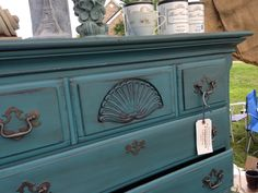 Paint Couture! Sea Glass with Zinc Glaze Couture on top, so beautiful by Organize Create Decorate