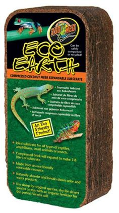 Amazon.com : Zoo Med Eco Earth Compressed Coconut Fiber Substrate, 3 Bricks : Pet Habitat Bedding : Pet Supplies