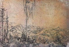 Landschaftsmalerei renaissance  Wolf Huber. Voralpenlandschaft. 1532, Aquarell, 21 × 37 cm. Berlin ...