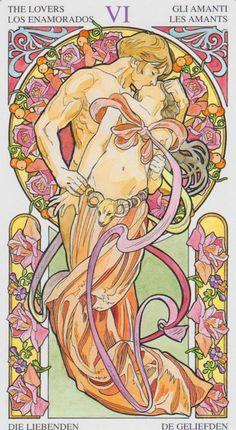 art nouveau tarot lovers