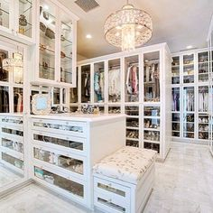 """2,937 Likes, 146 Comments - CosmoCube, Inc.® (@cosmocube) on Instagram: """"Closet goals!!! This walk-in is life!!!  YASS!!  #loveit #glamlife"""""""