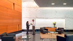 GSA Headquarters – DARPA - Arlington, VA   #Nurazzo #CrystalCollection and #DesignCollection White Ice and DC-382   #spartansurfaces #Terazzo   Photo Credit: Shooshan Company