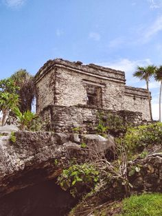 Mayan Ruins in Tulum, Mexico. There was a blue crab in that cave when I visited :)