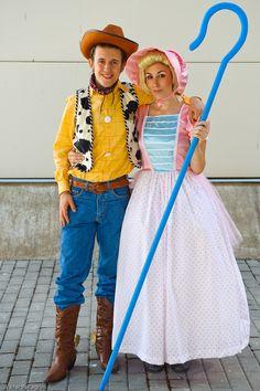 Woody y Bo Peep (Toy Story) #cosplays
