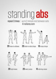 Standing Abs Workout | Posted By: NewHowToLoseBellyFat.com
