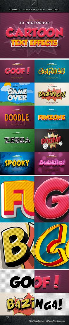 Cartoon Text Effects — Layered PSD #cartoon text #text effect • Available here → https://graphicriver.net/item/cartoon-text-effects/11197891?ref=pxcr