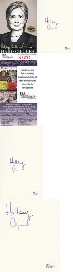 Hillary Clinton: Hillary Clinton Chelsea Jsa Signed 1St Edition Hard Choices Rare Autograph Book BUY IT NOW ONLY: $350.0