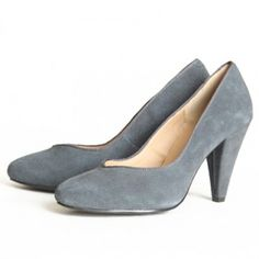 "chelsea crew ""pauline"" pump in grey. my absolute favorite shoes, i have them in black & blue."