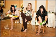 I want funny games : )   kitchen theme bridal shower game. see who can put stockings on the fastest while wearing oven mitts: MAYBE A RELAY RACE WITH THESE FUNNY GAMES @Casey Harvey
