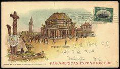 "1901 Pan-American Exposition, ""Buffalo, May 8 '01"" (Bomar B01-15A). Pan American Exposition machine cancel ties 1901 1c Pan-American on unse..."
