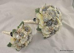 Matching bouquets  #BroochBouquet #WeddingBouquet