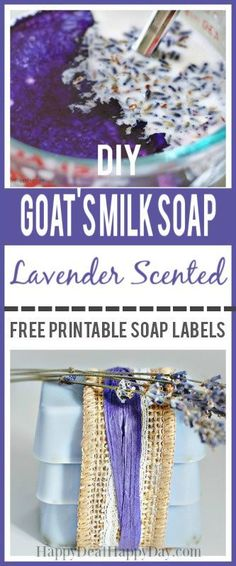 Easy DIY Gift Idea - Easy melt and pour homeade lavender soap with free printable soap labels Easy Diy Gifts, Homemade Gifts, Homemade Products, Bath Products, Fun Gifts, Unique Gifts, Melt And Pour, Soap Labels, Labels Free