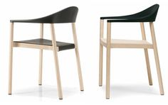 Monza chair de Konstantin Grcic, una perfecta combinación de polipropileno y madera de fresno...