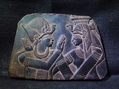 ANCIENT EGYPT EGYPTIAN ANTIQUE Ramses Embraced Isis Stela Relief 2700-2300 BC