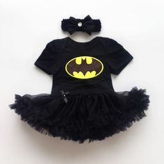 Newborn-Infant-Baby-Girl-Batman-Romper-Bodysuit-Dress-Clothes-Photo-Outfits