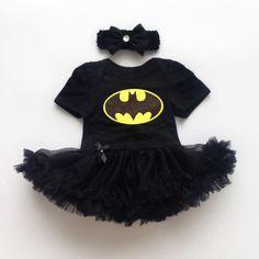 Newborn-Infant-Baby-Girl-Batman-Romper-Bodysuit-Dress-Clothes-Photo-Outfits