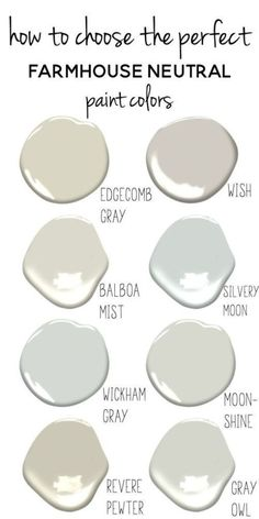 Tips For Choosing The Perfect Farmhouse Neutral Paint Colors Tips For Choosing Paint Colors How To Choose Paint Colors Farmhouse Paint Colors Choose Paint Colors Interior Paint Colors, Paint Colors For Home, Paint Colours, Interior Design, Fixer Upper Paint Colors, Coastal Paint Colors, Best Neutral Paint Colors, Paint For Walls, Interior Ideas