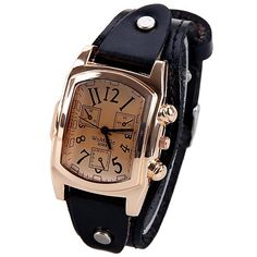 4.62$  Buy here - http://disei.justgood.pw/go.php?t=WW0281903 - Quartz Watch with Analog Real Leather Watchband for Women 4.62$