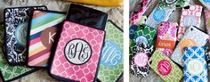 The Preppy Techie // Monogrammed phone covers, laptop sleeves, notepads, and much more!