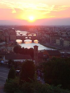 Sunset view from Piazza Michelangelo, Florence