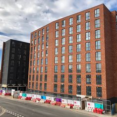 A fantastic project, almost completed! Cathedral View in Derby is using our acrylic brick slip Ecomin 400 system. Great work, very proud! Solid Brick, Brick Facade, Brickwork, Facades, Bricks, Derby, Cathedral, Construction, Architecture