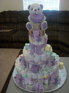 Diaper Cake - by Elegant Affairs Event Planning