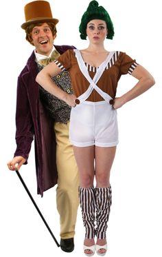 Chocolate Man & Female Oompa Loompa Costumes