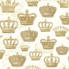 【楽天市場】ドイツのかわいい4つ折りペーパーナプキン☆王冠 クラウン ゴールド☆(エンボスタイプ) (Majesty Embossed creme gold)(1枚/バラ売り):Pippy 楽天市場店