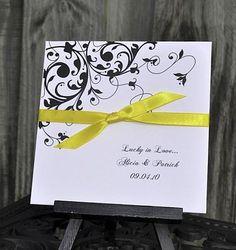 Black Flourish Wedding Favors by abbeyandizziedesigns