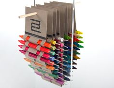 I like the minimal paper packaging that you can stick the pens back in to carry them. This was made by an instructor who wanted crayons to have a dual use of becoming birthday candles. Candle Packaging, Cool Packaging, Brand Packaging, Product Packaging, Corporate Design, Pencil Boxes, Branding, Packaging Design Inspiration, Colored Pencils