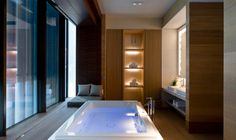 Bathroom at the spa suite | The Chedi Andermatt | Luxury Hotels Switzerland | GHM hotels